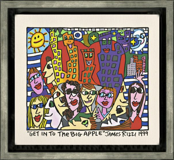 "James Rizzi ""Get Into The Big Apple"""