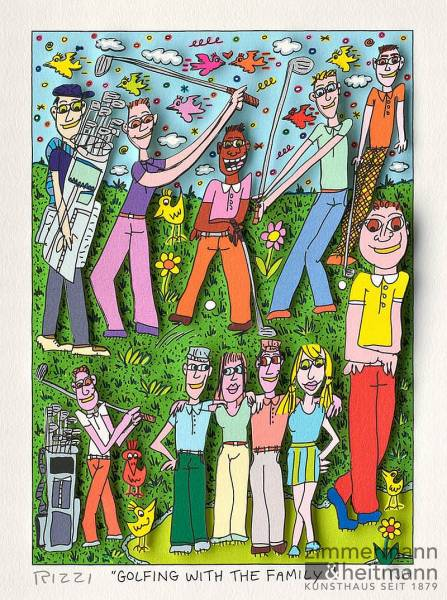 "James Rizzi ""Golfing with the Family"""