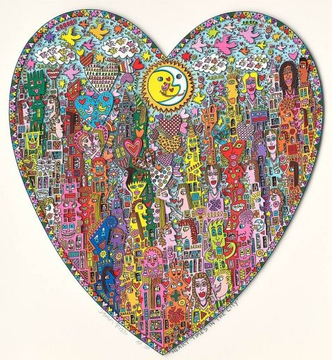 "James Rizzi ""Heart Times in the City"""