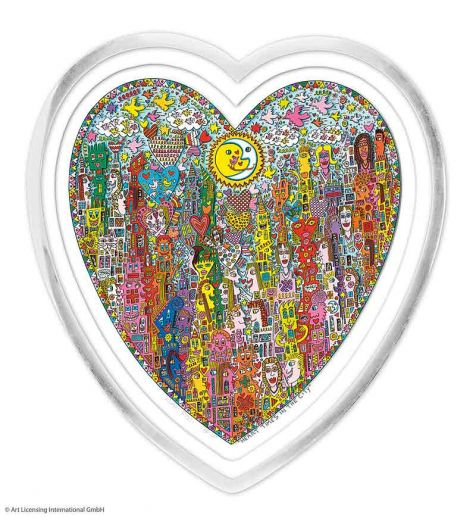 "James Rizzi ""HEART TIMES IN THE CITY im Herzrahmen"""