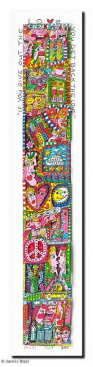 "James Rizzi ""If You Give Out The Love – You Get Back The Love - gerahmt"""