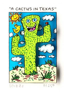 "James Rizzi ""A Cactus in Texas"""
