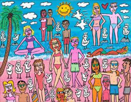 "James Rizzi ""Being on the Beach"""