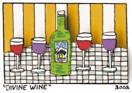 Divine Wine von James Rizzi