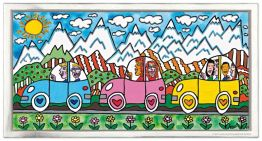 "James Rizzi ""Driving through the Alps"" aus dem Jahr 2018"