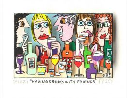 "James Rizzi ""Having Drinks with friends"""