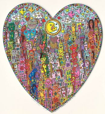 "James Rizzi ""Heart Times in the City"" aus dem Jahr 2014"