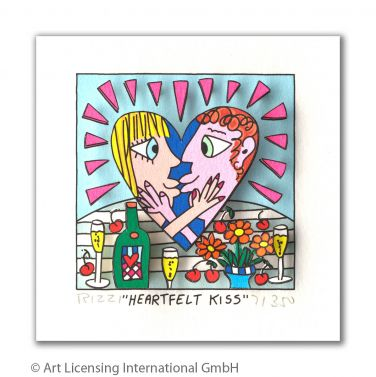 "James Rizzi ""Heartfelt Kiss"""