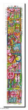 "James Rizzi ""If You Give Out The Love – You Get Back The Love - gerahmt"" aus dem Jahr 2011"