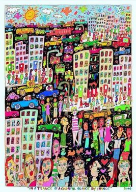 In A Trance of a Colorful Glance by Chance von James Rizzi