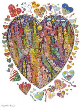 In The Heart Of The City von James Rizzi aus dem Jahr 2001