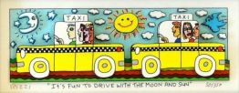 "James Rizzi ""It's Fun To Drive With The Moon And Sun"""