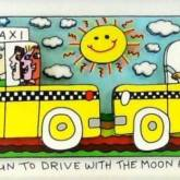 It's Fun to drive with the moon and sun von James Rizzi aus dem Jahr 2014