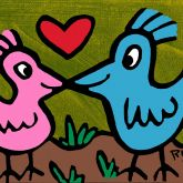 Just Like Love Birds von James Rizzi aus dem Jahr 2014
