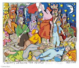 Liberty Leading the People von James Rizzi aus dem Jahr 1998