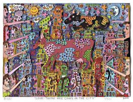 Look – There are Cows in the City von James Rizzi aus dem Jahr 2000