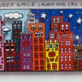 My City Doesn't Sleep But It Will Weep, Smile ... von James Rizzi aus dem Jahr 2015