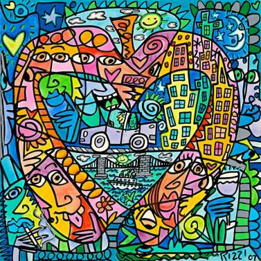 "James Rizzi ""My Heart Lives In My Big Apple"" aus dem Jahr 2017"