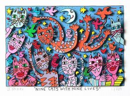"James Rizzi ""Nine Cats With Nine Lifes"""