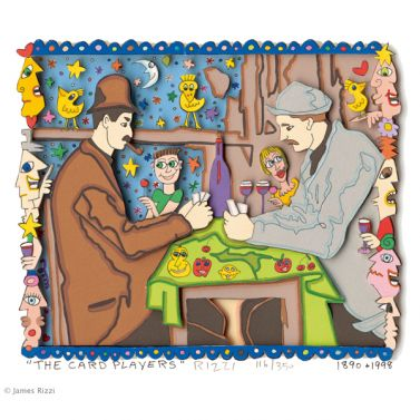 The Card Players von James Rizzi aus dem Jahr 1998
