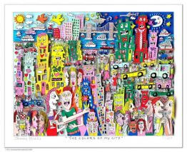 "James Rizzi ""The Colors of my city"" aus dem Jahr 2018"