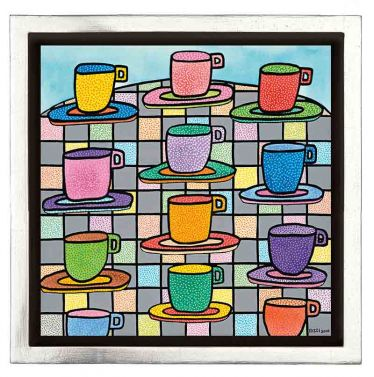 "James Rizzi ""The Most Colorful Cups Of Coffee"""