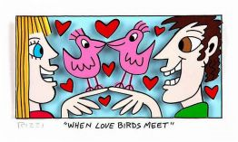 "James Rizzi ""When Love Birds meet"" aus dem Jahr 2015"