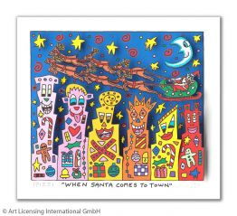 "James Rizzi ""When Santa Comes To Town"""