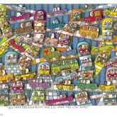 You Take The Hight Road And I'll Tahe The Low Road - Gerahmt von James Rizzi aus dem Jahr 2004