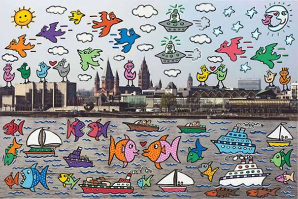 "James Rizzi ""Lets all meet in Mainz (2D)"""