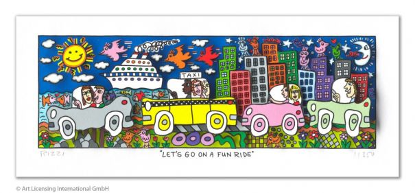"James Rizzi ""Let`s go on a fun ride"""