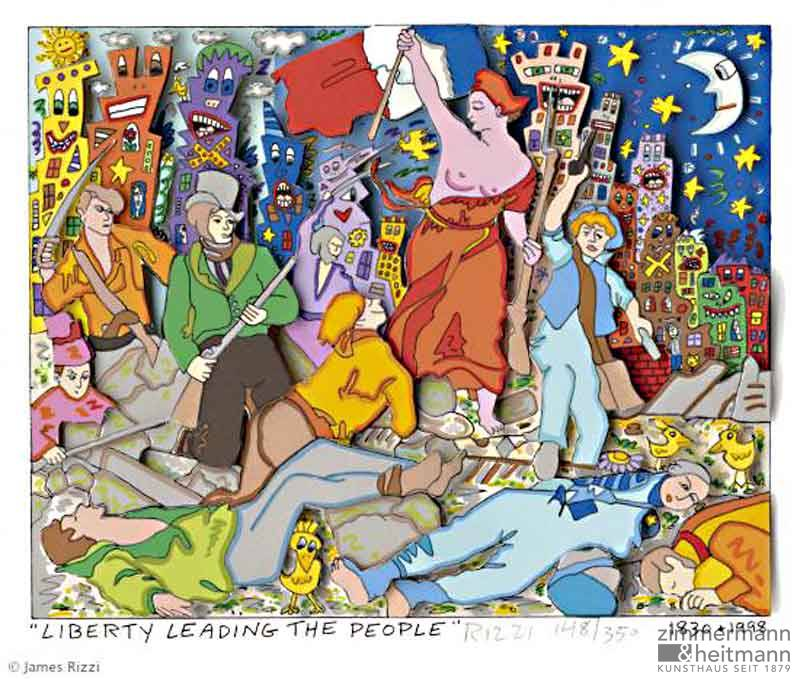 "James Rizzi ""Liberty Leading the People"""