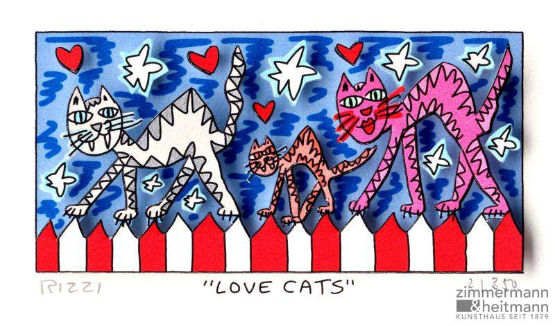 "James Rizzi ""Love Cats"""