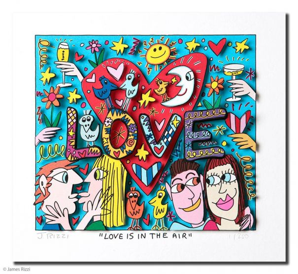 "James Rizzi ""Love is in the air"""