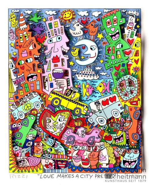 "James Rizzi ""Love makes a City pretty"""
