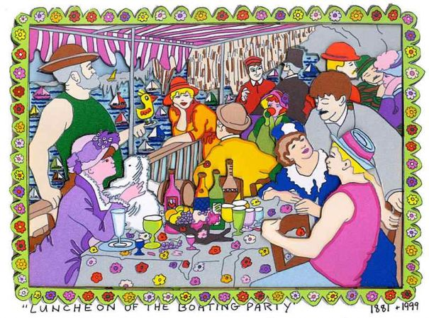 "James Rizzi ""Luncheon of the Boating Party"""