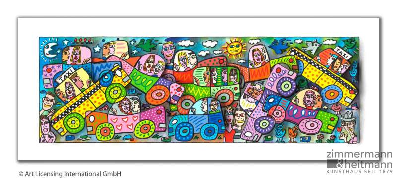 "James Rizzi ""My Busy City Traffic Jam"""