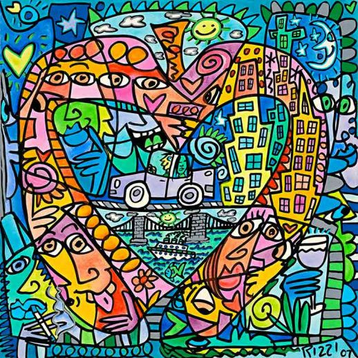 "James Rizzi ""My Heart Lives In My Big Apple"""