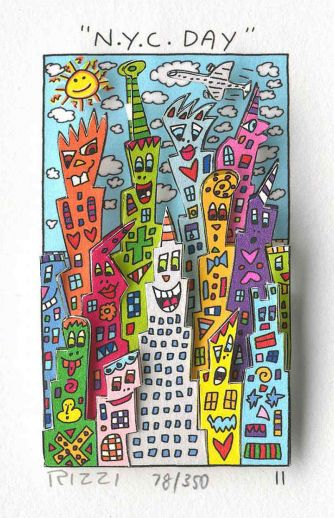 James Rizzi - N.Y.C. New York City Day