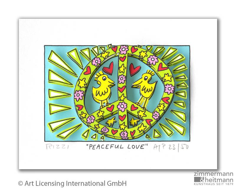 "James Rizzi ""Peaceful Love"""