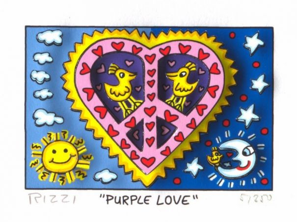 "James Rizzi ""Purple Love"""