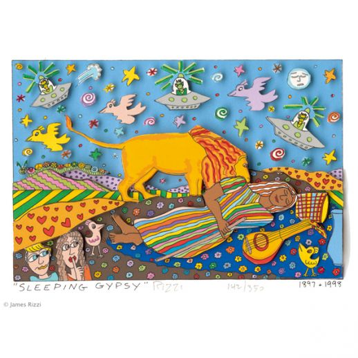 "James Rizzi ""Sleeping Gypsy"""