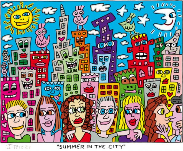 "James Rizzi ""Summer In The City"""
