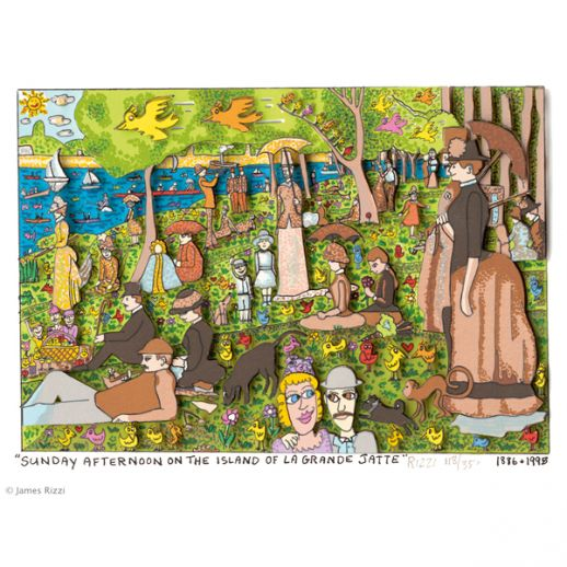 "James Rizzi ""Sunday Afternoon On The Island Of La Grande Jatte"""