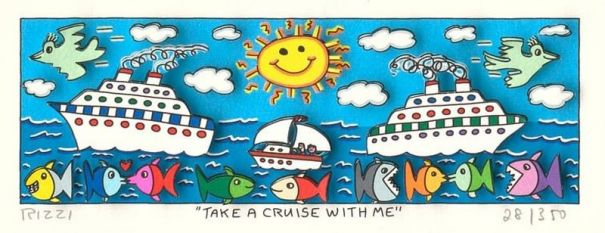 James Rizzi - Take a Cruise with Me (gerahmt)