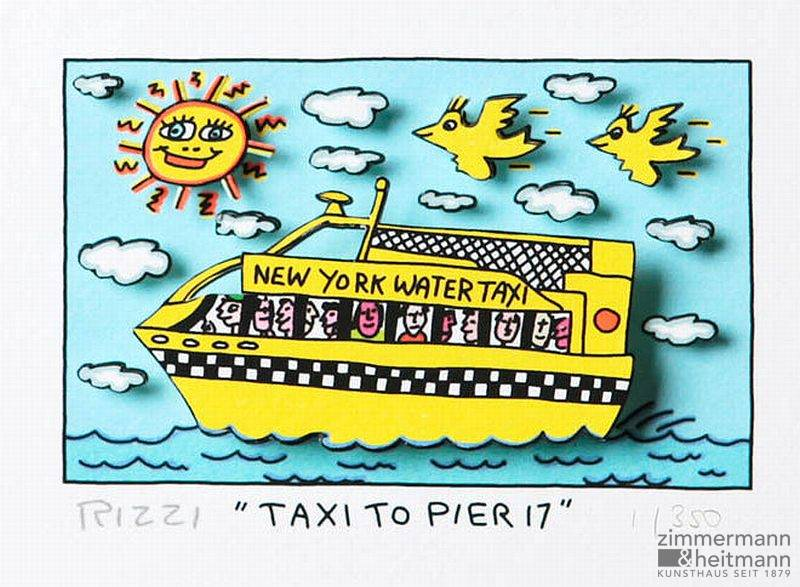 "James Rizzi ""Taxi to Pier 17"""