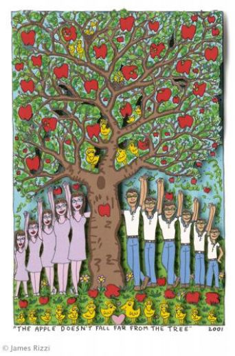 "James Rizzi ""The Apple Doesn't Fall Far From The Tree"""