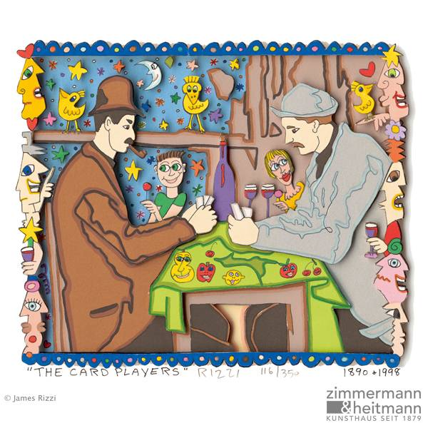"James Rizzi ""The Card Players"""