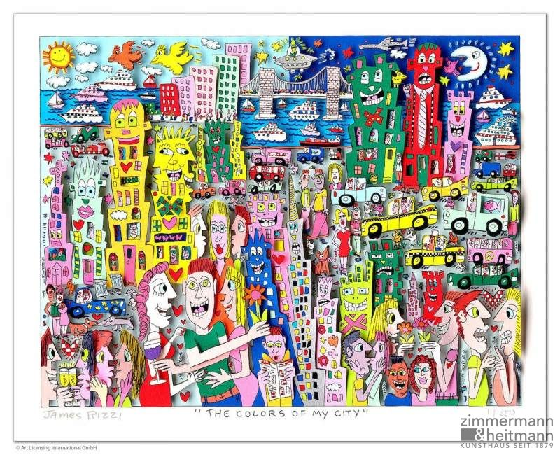 "James Rizzi ""The Colors of my city"""