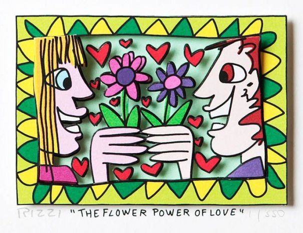 "James Rizzi ""The Flower Power of Love"""